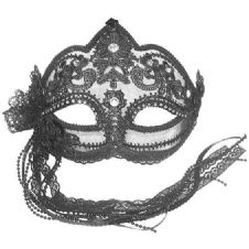 Transparent Mask with Lace Trim